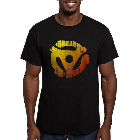 Distressed 45 RPM Adapter Men's Fitted T-Shirt (da