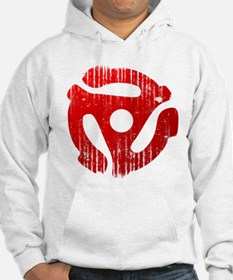 Distressed Red 45 RPM Adapter Hoodie