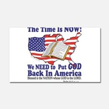 Put God Back in America Car Magnet 20 x 12