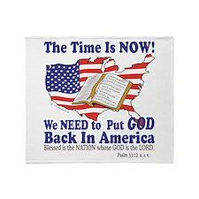 Put God Back in America Throw Blanket