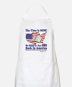 Put God Back in America Apron