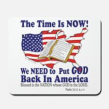Put God Back in America Mousepad