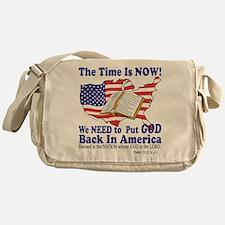Put God Back in America Messenger Bag