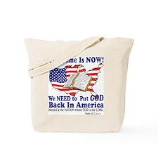 Put God Back in America Tote Bag
