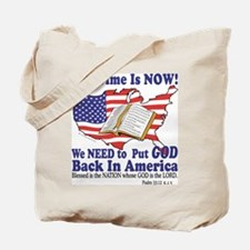 Put God Back in America Tote Bag
