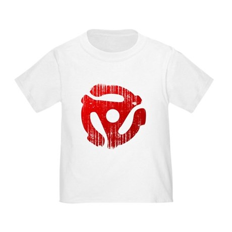 Distressed Red 45 RPM Adapter Toddler T-Shi