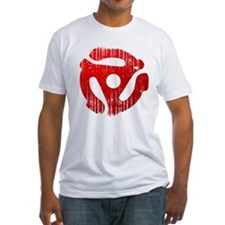 Distressed Red 45 RPM Adapter Shirt