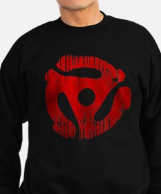 Distressed Red 45 RPM Adap Dark Sweatshirt