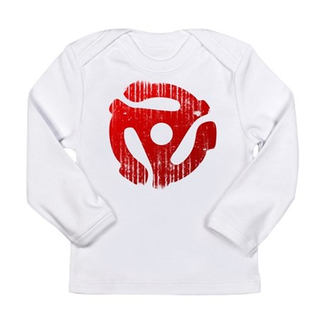 Distressed Red 45 RPM Adap Long Sleeve Infant T-Sh