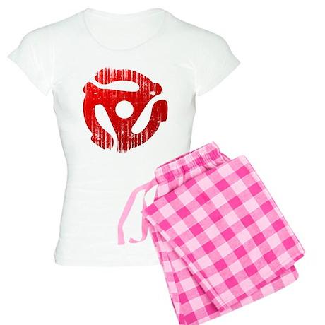 Distressed Red 45 RPM Adap Women's Light Pajamas