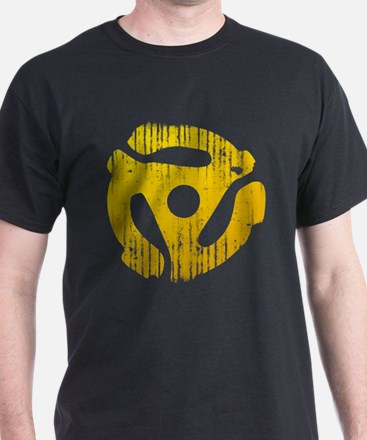 Distressed Yellow 45 RPM Adapter T-Shirt