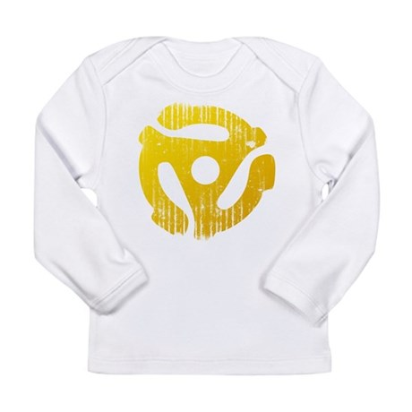 Distressed Yellow 45 RPM Adap Long Sleeve Infant T