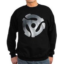 Silver 45 RPM Adapter Dark Sweatshirt