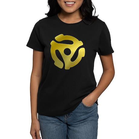 Gold 45 RPM Adapter Women's Dark T-Shirt