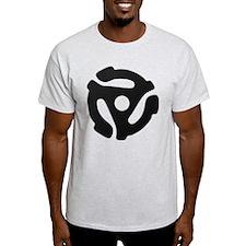 Black 45 RPM Adapter T-Shirt
