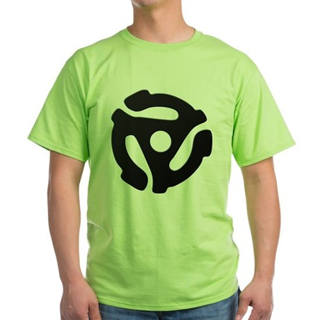 Black 45 RPM Adapter Green T-Shirt