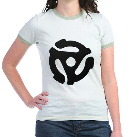 Black 45 RPM Adapter Jr. Ringer T-Shirt