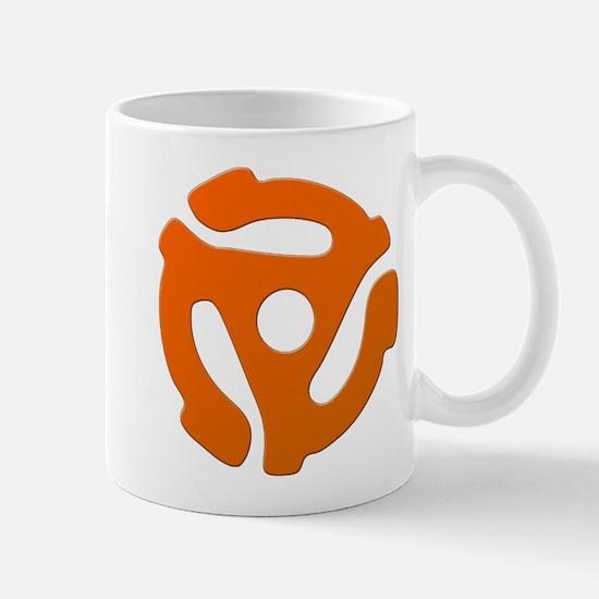 Orange 45 RPM Adapter Mug