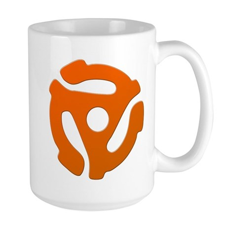 Orange 45 RPM Adapter Large Mug