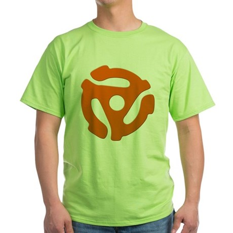 Orange 45 RPM Adapter Green T-Shirt