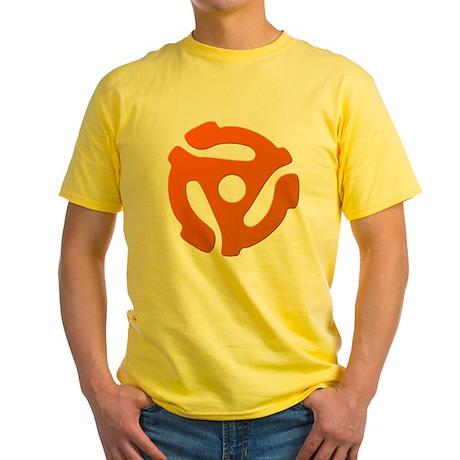 Orange 45 RPM Adapter Yellow T-Shirt