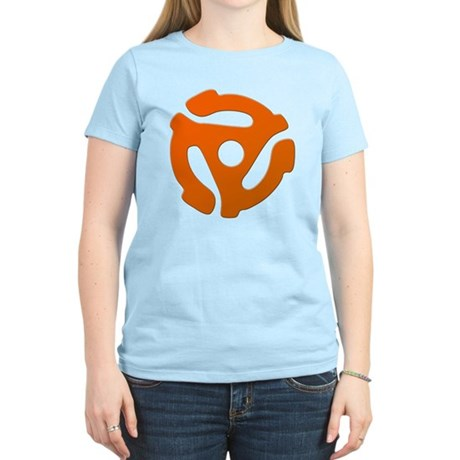 Orange 45 RPM Adapter Women's Light T-Shirt