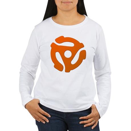 Orange 45 RPM Adapter Women's Long Sleeve T-Shirt