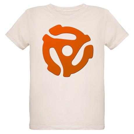 Orange 45 RPM Adapter Organic Kids T-Shirt