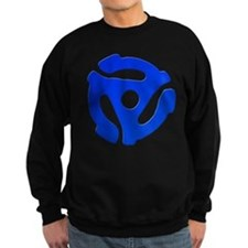 Blue 45 RPM Adapter Dark Sweatshirt