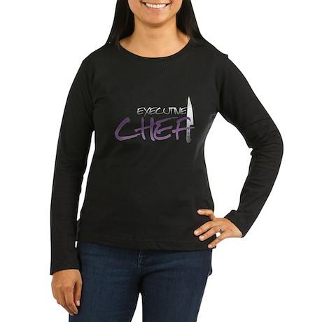 Purple Executive Chef Women's Long Sleeve Dark T-S