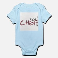 Red Sous Chef Infant Bodysuit