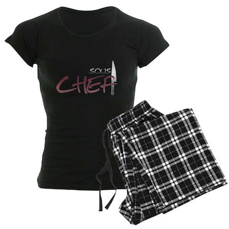 Red Sous Chef Women's Dark Pajamas