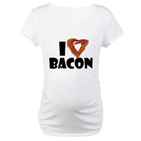 I Heart Bacon Maternity T-Shirt