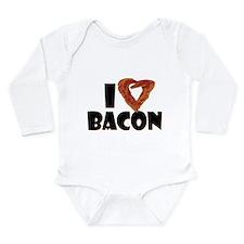 I Heart Bacon Long Sleeve Infant Bodysuit