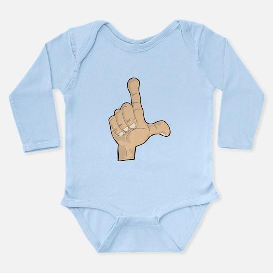 Hand - Loser Fingers Long Sleeve Infant Bodysuit
