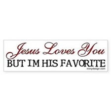 Jesus Loves You... Bumper Bumper Bumper Sticker