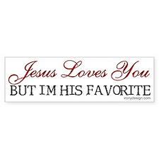 Jesus Loves You... Bumper Car Sticker