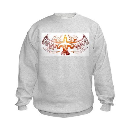 Tribal Thunderbird Tattoo Kids Sweatshirt