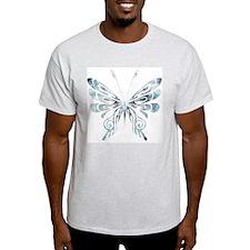 Blue Tribal Butterfly Tattoo T-Shirt