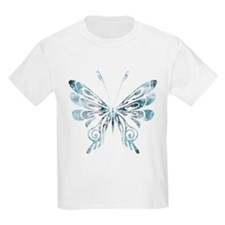 Blue Tribal Butterfly Tattoo T-Shirt