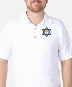 Star of David with Cross Golf Shirt