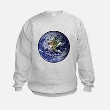 Western Earth from Space Sweatshirt