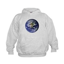 Western Earth from Space Hoodie
