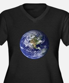 Western Earth from Space Women's Plus Size V-Neck
