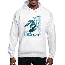 Eat Sleep Snowboard Hoodie Sweatshirt