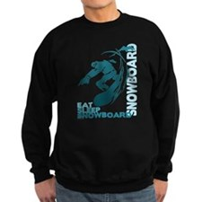 Eat Sleep Snowboard Dark Sweatshirt