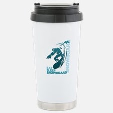 Eat Sleep Snowboard Travel Mug