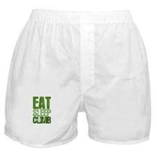 EAT SLEEP CLIMB Boxer Shorts