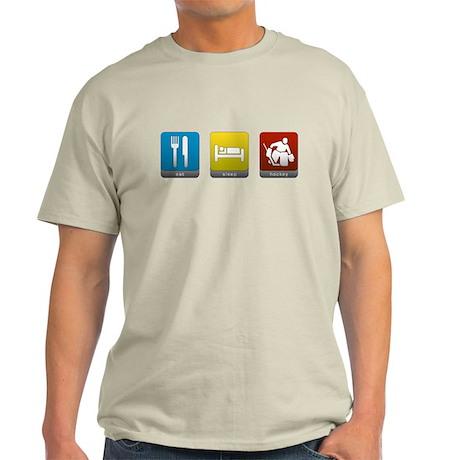 Eat, Sleep, Hockey Light T-Shirt
