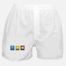 Eat, Sleep, Hockey Boxer Shorts